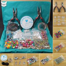 Les adultes bijoux making starter kit-outils constatations perles de verre charms élastique