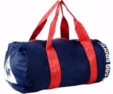 LE COQ SPORTIF Duffel Travel Gym Yoga Bag Navy Blue & Red Handles BNWT's