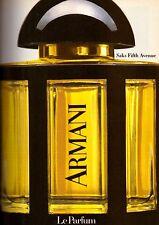 1982 Armani Saks Fifth Ave Perfume Fragrance Vintage Print Ad Advertisement 80s