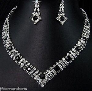 BRIDAL/WEDDING  Crystal/Diamonte Necklace Set **119** STUNNING