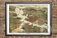 Vintage Norfolk, VA Map 1891 - Historic Virginia Art - Old Victorian Industrial
