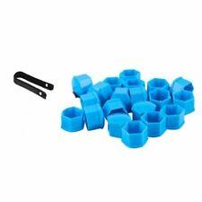 17mm / 20 Blue Car Caps Bolts Alloy Wheels Nuts Covers Fit Nissan Subaro Kia neu