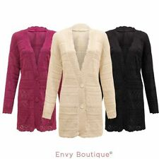 Cotton V Neck Plus Size Long Jumpers & Cardigans for Women