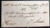 1857 Bratislava Pressburg Austria Hungary Empire Letter Cover To Raab