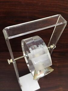 France 70s Space Age Lucite Acrylic Table Lamp Castiglioni Lebovici Era Colombo