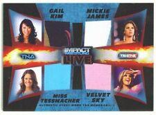 """VELVET SKY MICKIE JAMES KIM TESSMACHER """"QUAD MEMORABILIA /50"""" TNA IMPACT LIVE 13"""