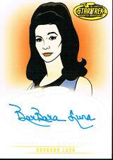STAR TREK THE ORIGINAL SERIES ART AND IMAGES AUTOGRAPH CARD A19 BARBARA LUNA