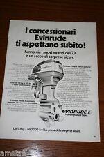 AU9=1972=EVINRUDE MOTORE BARCA NAUTICA=PUBBLICITA'=ADVERTISING=WERBUNG=