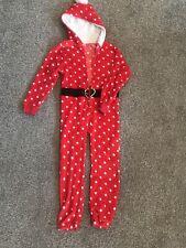 Girls Fleece Santa Pajamas