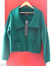 NWT Fenn Wright Manson UK Designer Wool Green Cardigan Jumper Sweater L $167