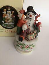 Vnt Christmas Ceramic Windup Musical Box Rotating Figurine - Jingle Bell