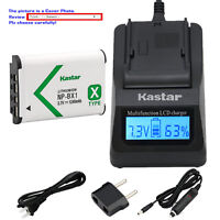 Kastar Battery LCD Fast Charger for Sony NP-BX1 BC-CSX & Sony FDR-X3000 Camera