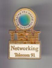 RARE PINS PIN'S .. INFORMATIQUE PC ORDINATEUR COMPUTER IBM FRANCE TELECOM 91 ~CZ