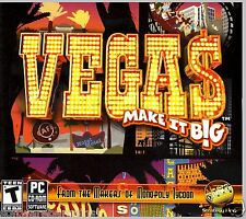 VEGAS - MAKE IT BIG. BRAND NEW RETAIL PC SOFTWARE. SHIPS FAST and SHIPS FREE.