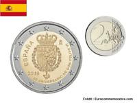 2 Euros Commémorative Espagne 2018 Felipe 6 UNC