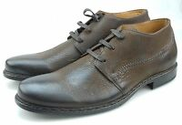 John Varvatos Norwich Mens Wood Brown Leather Lace-up Oxfords Made in Italy