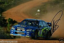 "Petter Solberg World Rally Champion 03 SUBARU IMPREZA HAND SIGNED PHOTO 12x8"" BK"