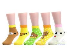 New 3 Pairs Rilakkuma San-X Baby Girl's Kids Toddler Cotton Soft Socks 2-3 years