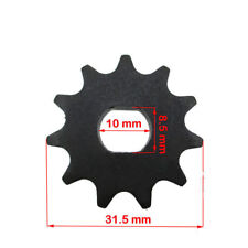 11 Tooth Sprocket Dual D-bore, use T8F chain for electric scooter MY01020 motors