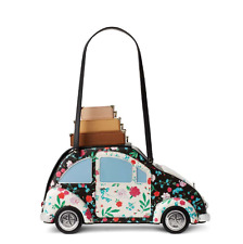 Kate Spade Scenic Route Car Luggage Floral Patchwork Clutch Bag Tote Purse NWT