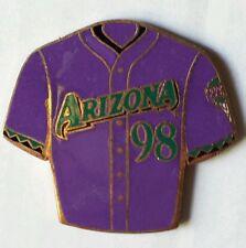 Arizona DIAMONDBACKS Purple & Teal Baseball Jersey MLB 98 Pin