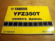 Yamaha YFZ350T Banshee Operator's Owner's Book Manual NOS Original Printing OEM