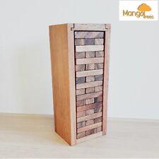 Jenga Blocks Large TUMBLE TOWER  Handmade Hardwood Game Monkey Pod Wood Smal tal