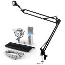 auna MIC-900S-LED USB Mikrofonset V3 Kondensatormikrofon Mikrofonarm LED silber