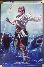 "Aquaman King Orm Dc Comics 2018 Film 18"" Fabric Advertising Banner Movie Poster"