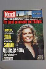 Paris match N°2845 Sarah Biasini,Michael Jackson,Rumsfeld,Uma Thurman,DSK