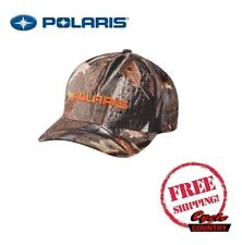 POLARIS STEALTH CAMO HAT CAP BASEBALL RZR RMK SPORTSMAN ACE RANGER FLEXFIT 110