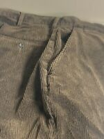 Polo Ralph Lauren Men's Brown Thick Corduroy Flat Front Pants Size 38x32