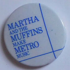 1979 Martha and The Muffins Badge, Button, Pinback...