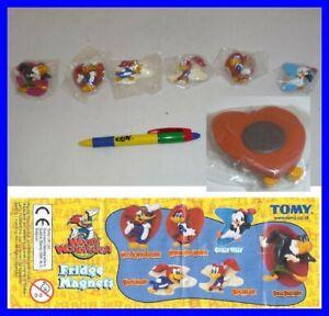 Set 6 Figurine Aimants Magnets Woody Woodpecker TOMY Neuf Origine