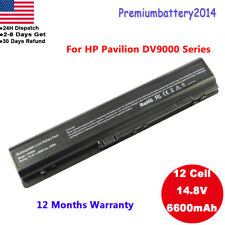 12Cell Battery for HP Pavilion dv9000 dv9200 dv9500 DV9700 HSTNN-UB33 448007-001