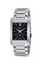 NWOT Men's ESQ Movado 07301296 VENTURE Stainless Steel Band Black Dial Watch