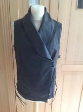 H&M DARK GREY FAUX LEATHER GILLET UK SIZE 14 WORN 2-3 TIMES GREAT CONDITION