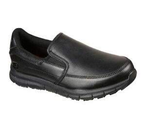 Skechers Women's Work Relaxed Fit Nampa Annod SR Shoes 77236 Black A3