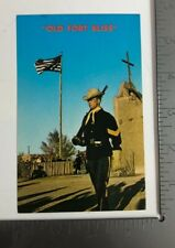 Vintage Postcard Old Fort Bliss Replica Museum El Paso Texas