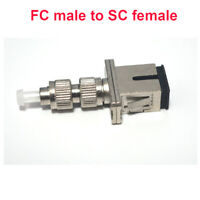 2PCS FC to SC Fiber Optic Adapter- FC/UPC male to SC/UPC female 9/125 Singlemode