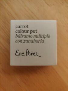 Vegan Natural Luxury LIP Balm by ERE PEREZ Carrot Colour Pot in HOLY Fresh - NIB