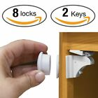 Baby Safety Magnetic Cabinet Locks Invisible Child Kids Proof Cupboard Drawer