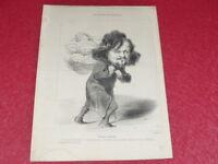 GRAVURE XIXe - REFORMATEURS SOCIAUX UTOPISTES - PIERRE LEROUX Litho DAUMIER 1848