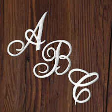 Monogram Iron On Letter Patches, Script Embroidered Letters, 3 Colors Usa Seller
