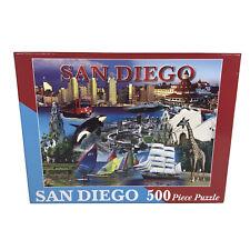 San Diego 500 Piece Jigsaw Puzzle 18 X 24 Padres Sea World Giraffe Navy City USA