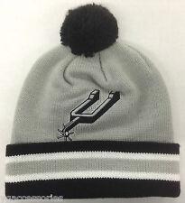 NBA San Antonio Spurs Mitchell and Ness Cuffed Pom Knit Hat Cap Beanie M&N KE31Z