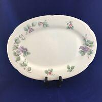 Vintage Pfaltzgraff GRAPEVINE Pattern Oval Large Stoneware Serving Platter Plate