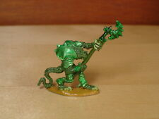 Reptile Troglodyte With Polearm Raised Metal Miniature, D&D, Citadel, RPG, Green