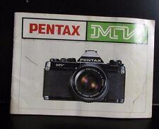 PENTAX Mv Appareil Photo Utilisateur Instruction Guide Owner's Manuel Anglais En