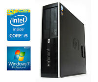 FAST WINDOWS 7 HP ELITE Desktop SFF PC 2nd Gen Core i5 4GB DDR3 RAM 250GB CHEAP